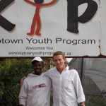 Chris Maxey with a team leader, Sipho