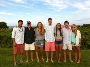 A group of Fall 2012 alumni at the Simmons' home in Nantucket.