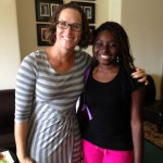 Dr. Joanna Paul, who coordinates the trip for the students, and Breanna Leary (DCMS 2013) at The George School