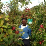 Demetria Humes enjoyed apple picking in Harvard, MA and soaking in the New England fall