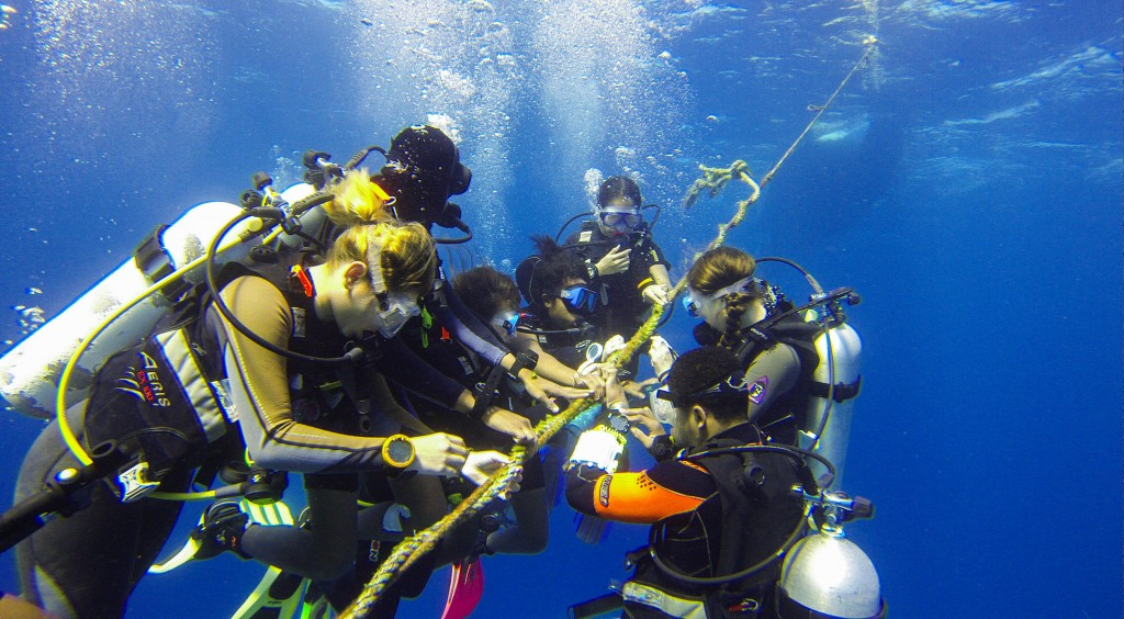 Five minute safety stop after the dive