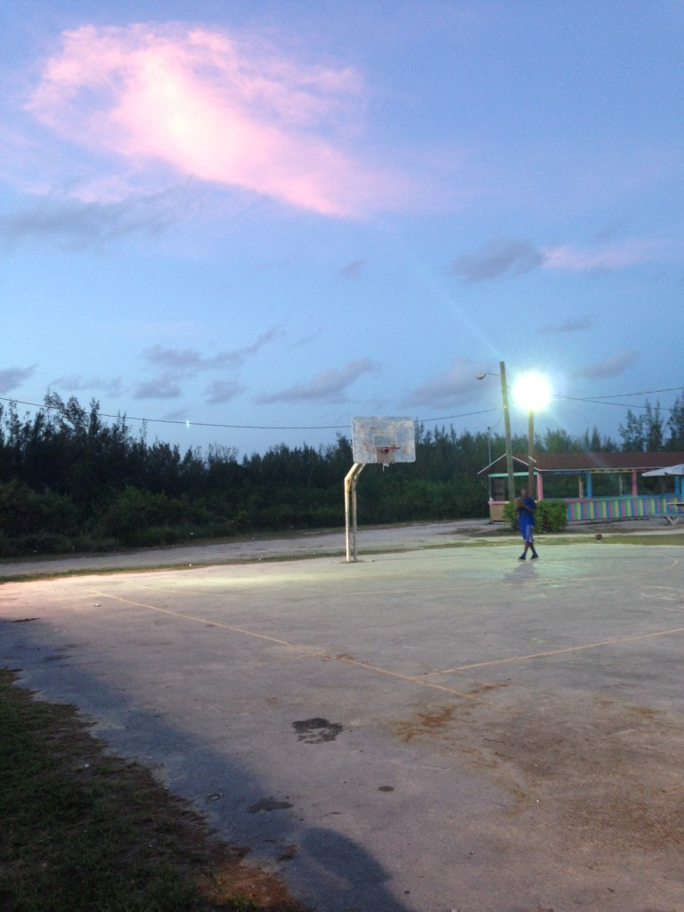 Basketball court in Tarpum Bay.