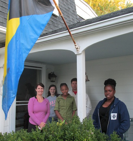 The Goulds also generously hosted our students at their home where they flew the Bahamian flag!