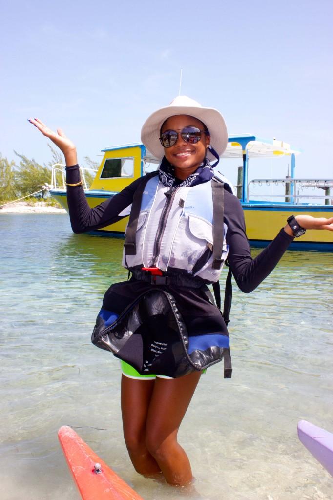 Deneé prior to departing on  her kayak trip.