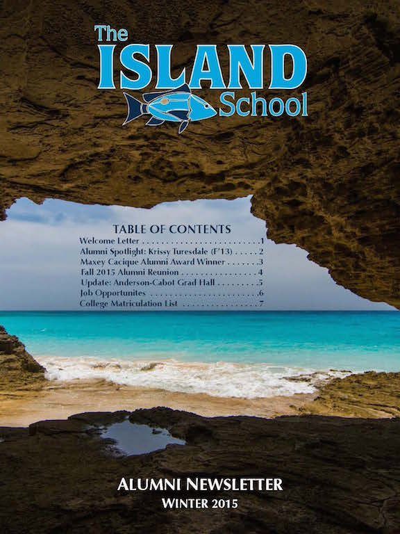 Winter 2015 Alumni Newsletter Cover Page