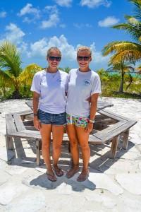 Summer Term alumni Maggie Winchester (Su'11) and Kristin Treat (Su'10)