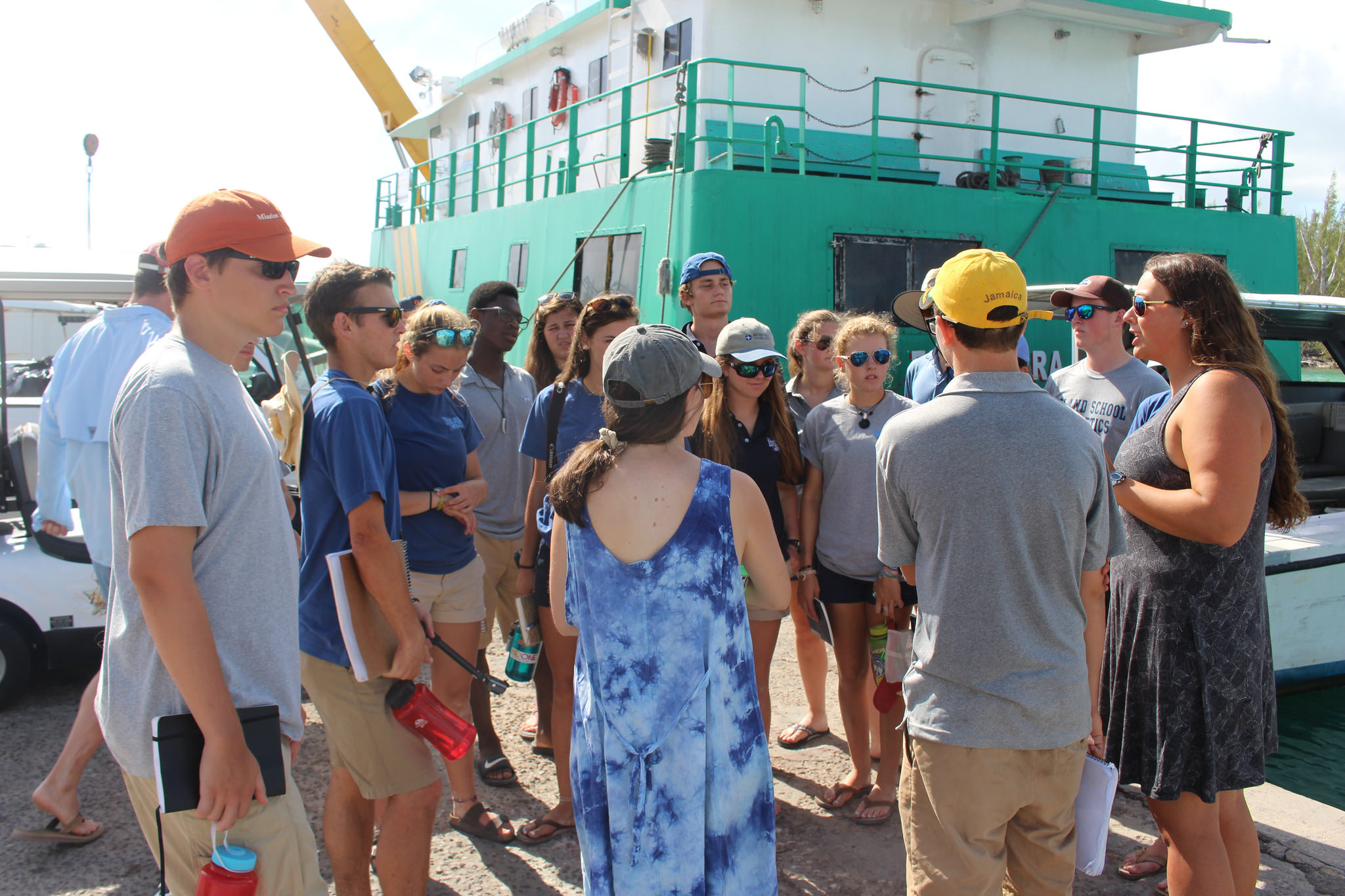 Students on their Down Island Trip visit various settlements and businesses to learn about the tourism industry.