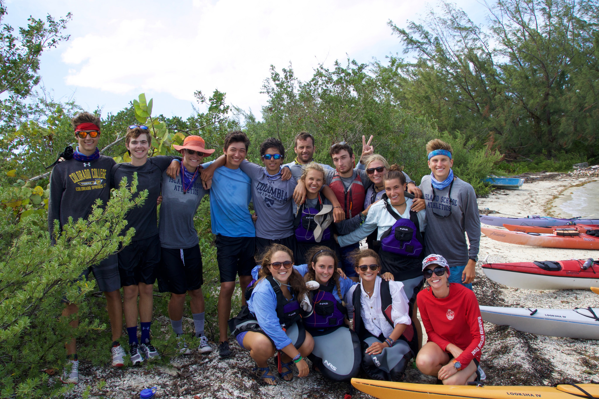 Kyra's kayak group after returning to campus